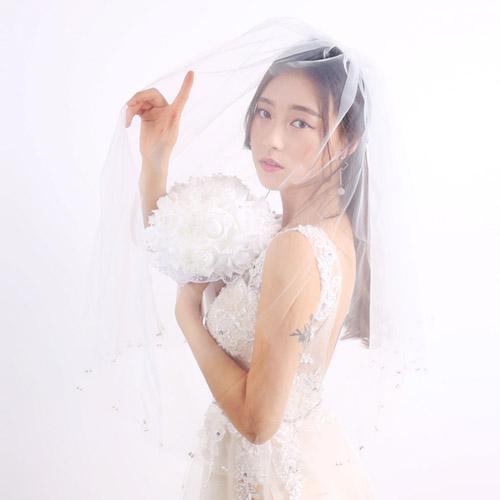스몰 웨딩 베일(면사포, 진주