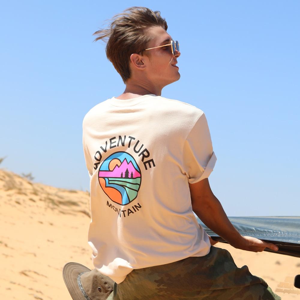 플루크 남여공용 서클마운틴 반팔 티셔츠 FST142