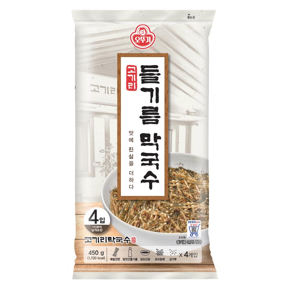 [Gold box] 오뚜기 고기리 들기름 막국수 4p, 450g, 1개 - 랭킹1위 (13200원)