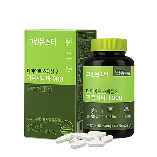 그린몬스터 다이어트 스폐셜2 가르시니아900 8주분, 112정, 1개