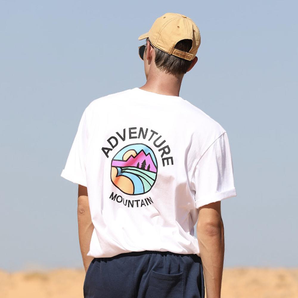 [남성패션] 플루크 남여공용 서클마운틴 반팔 티셔츠 FST142 - 랭킹39위 (13800원)