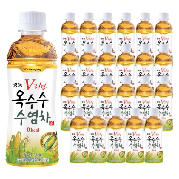 광동제약 V라인 옥수수 수염차, 340ml, 24개