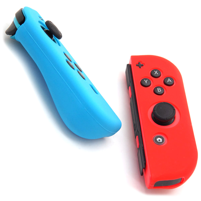 모모켓 닌텐도 스위치 조이콘 소프트그립 블루 레드, 단일 상품, 1세트