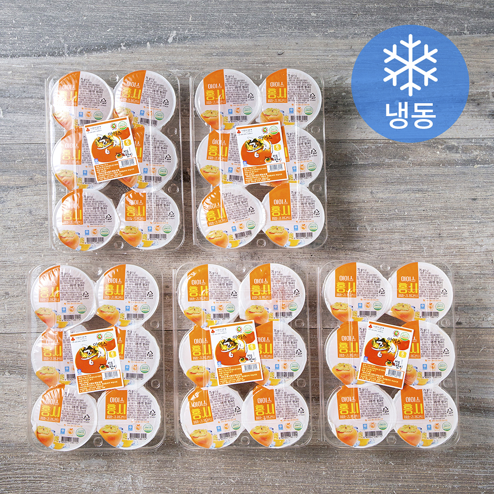떠먹는 아이스홍시 (냉동), 420g(6입), 5팩