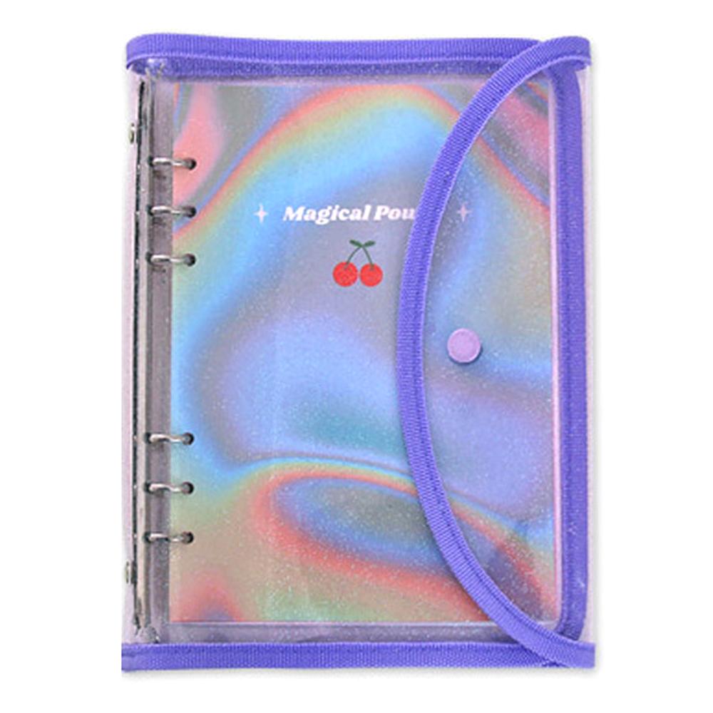 세컨드맨션 A5 6공 레트로 다이어리 만년형, 홀로그램 체리