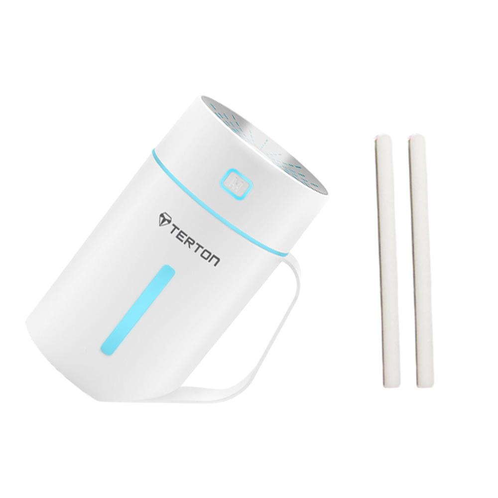 테르톤 컵 휴대용 LED 미니 가습기 WHITE 420ml + 리필 필터 2p, SK-904
