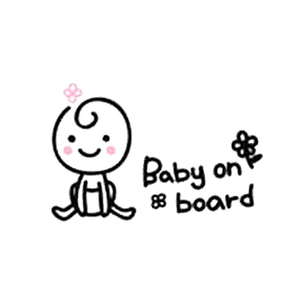 단비디자인 Baby On Board2 차량용 스티커, 블랙, 1개
