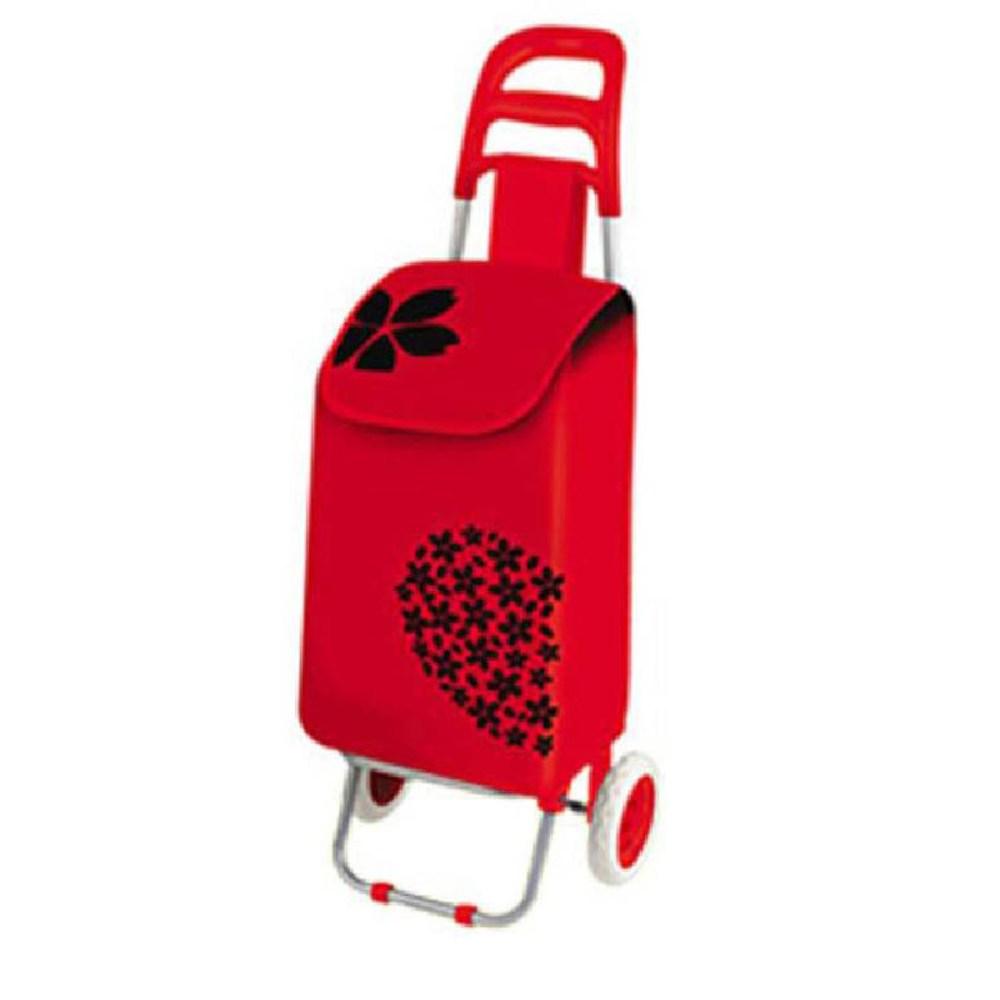 키친아트플라워핸드카트 시장바구니 핸드캐리어, 레드:본상품수량선택