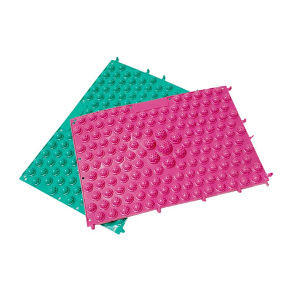 스포뱅크 건강지압매트 녹색 + 분홍, 1개