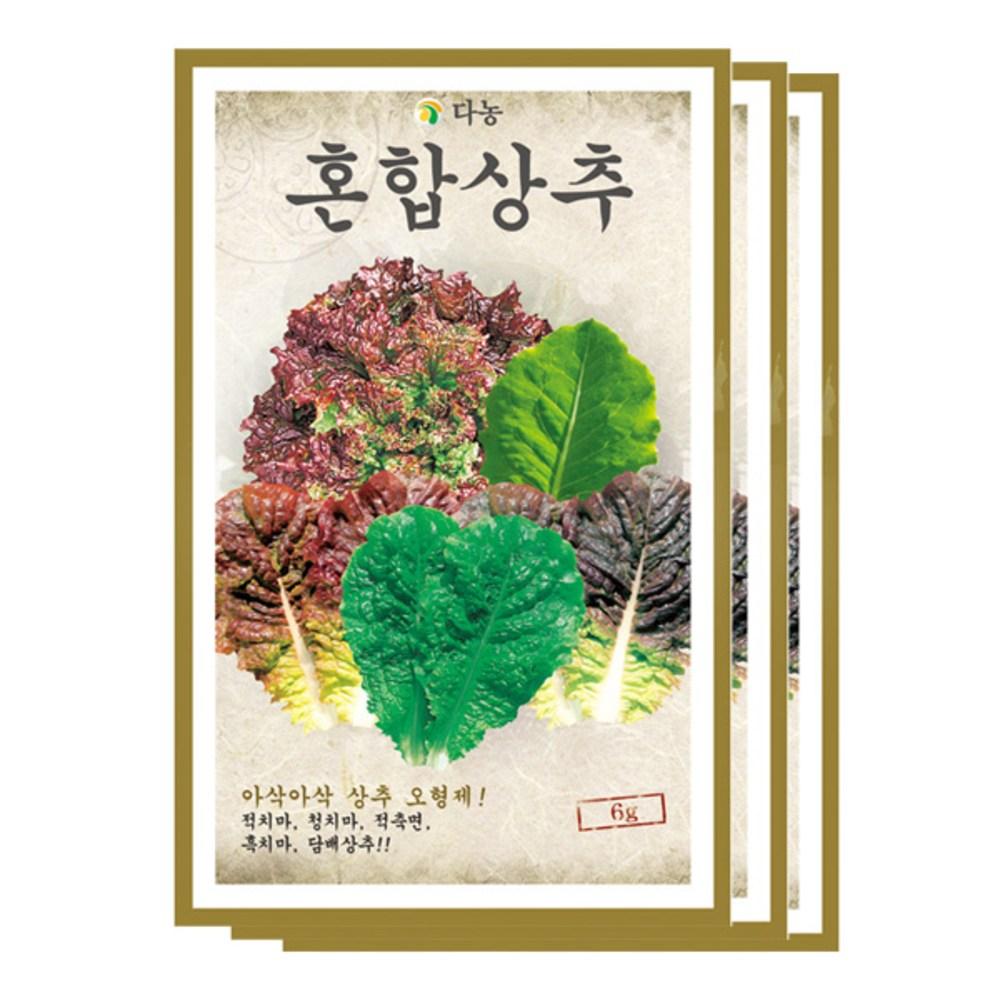 다농 혼합상추씨앗, 6g x 3개