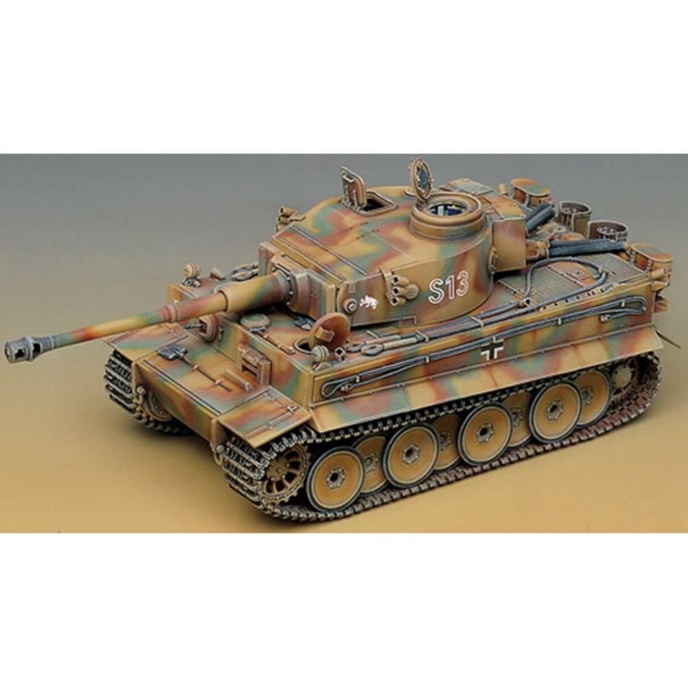 아카데미과학 1/35 타이거 I 초기형 내부 재현 모형 프라모델 탱크 13239, 1개