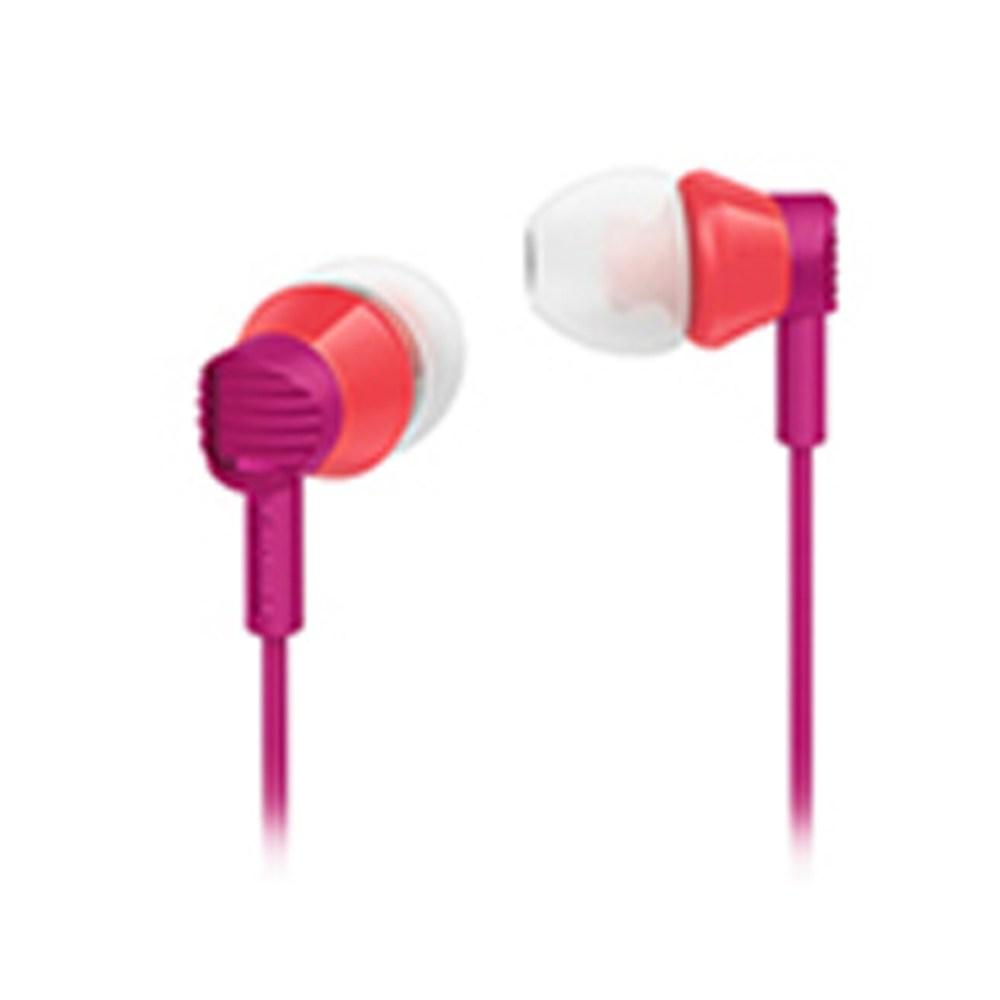 필립스 커널형 이어폰 SHE3800 핑크