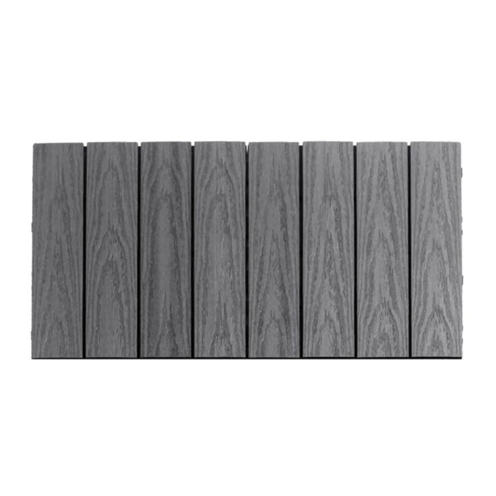 뉴테크우드 퀵데크 데크타일 2개입 (욕실 및 현관 사용가능) 30X30cm, light gray