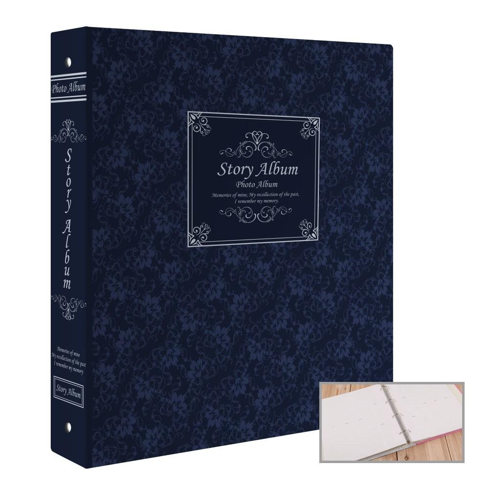 스토리앨범 5x7 백지포켓 50, 클래식 블루, 1개