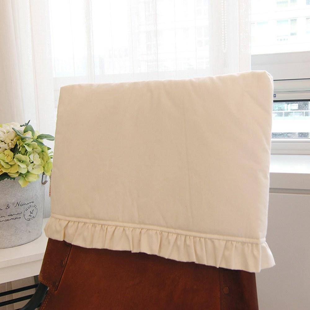 아름다운집까사 식탁 의자 등커버 로렌, 내츄럴 광목, 1개