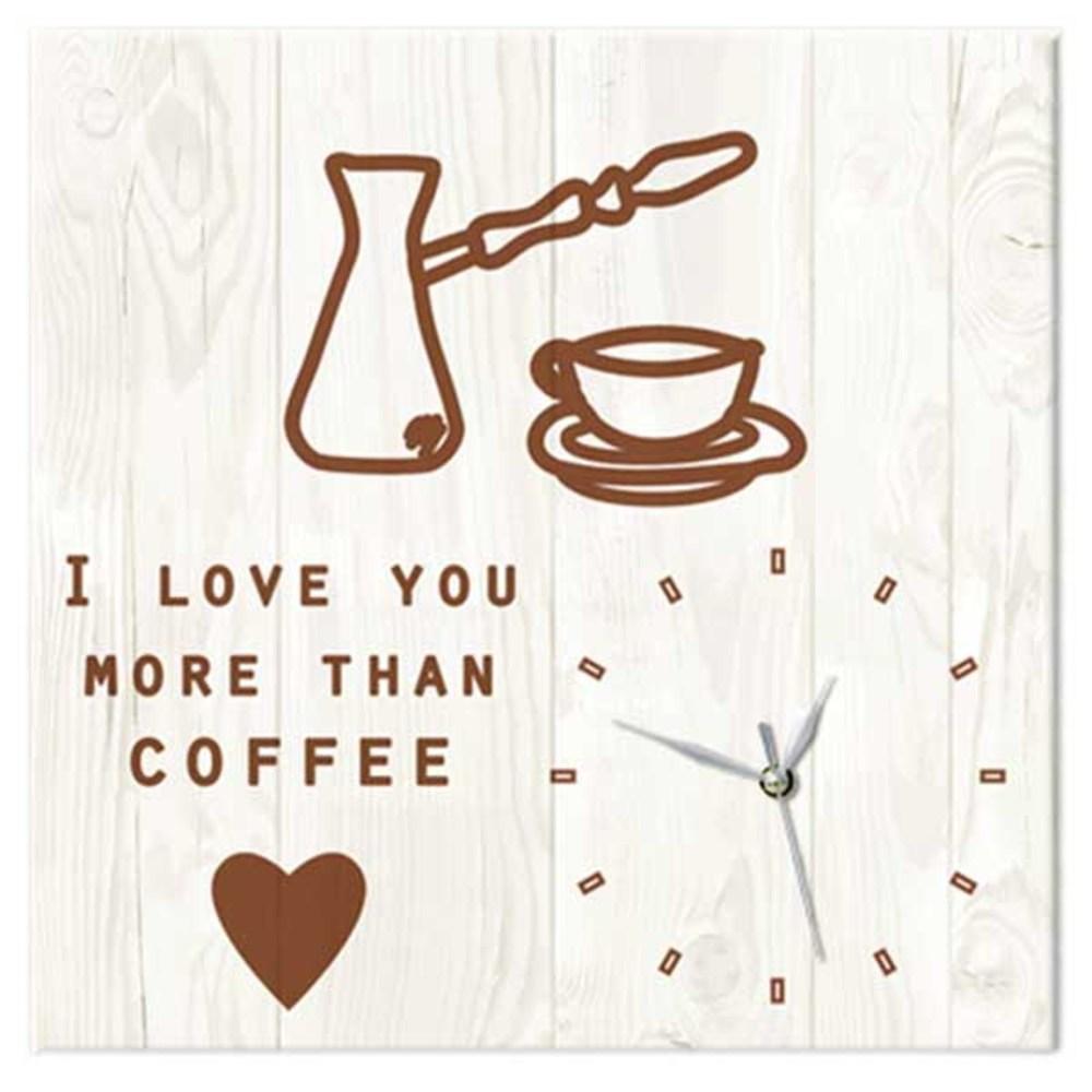 꾸밈 커피보다사랑 노프레임벽시계, D타입 빈티지