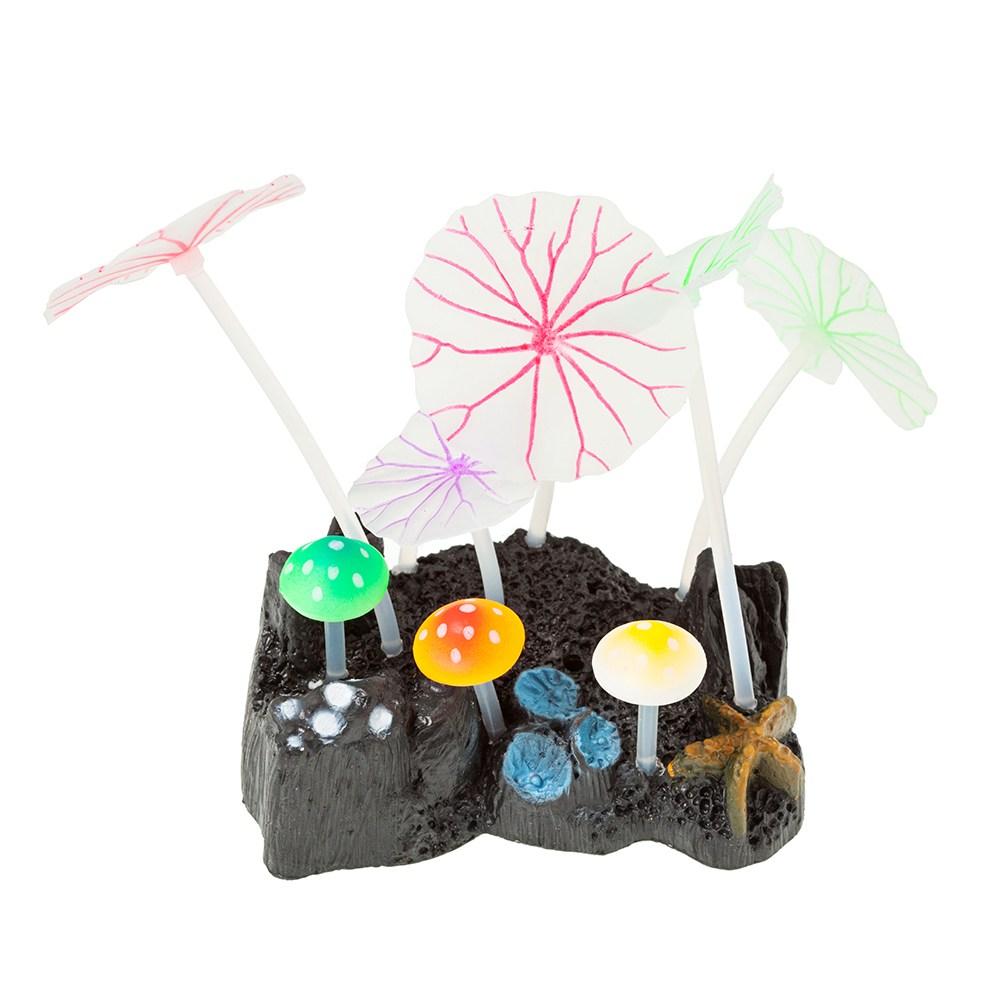 수족관 장식 실리콘 산호 대 1, 1개