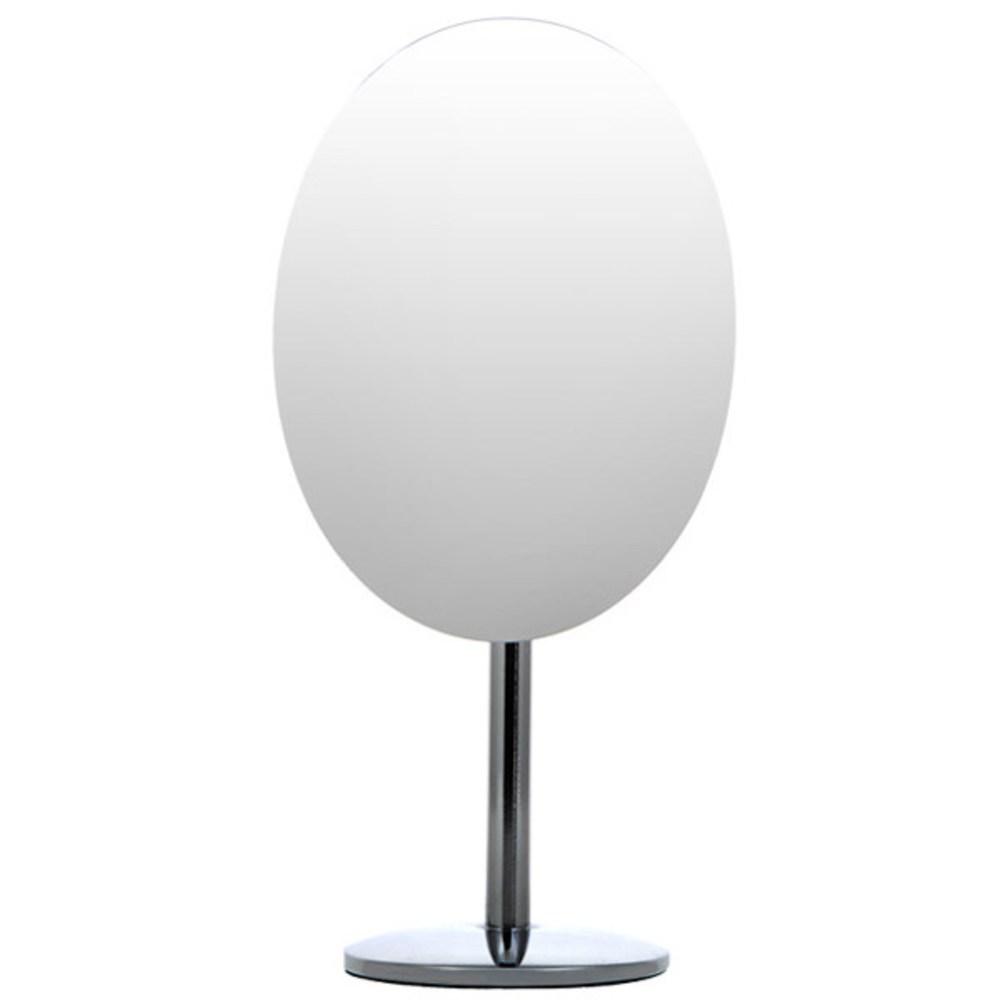 타원형 미용 거울, 실버