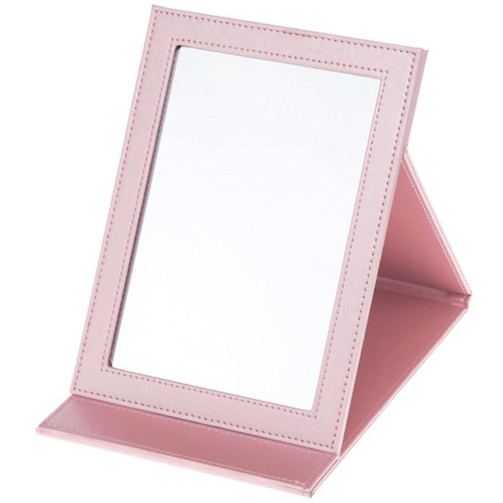 PU핑크접이식거울 거울 탁상 스텐드 개업선물 ITH-08331 인테리어 판촉물 집들이 개업선물 스텐드 탁상