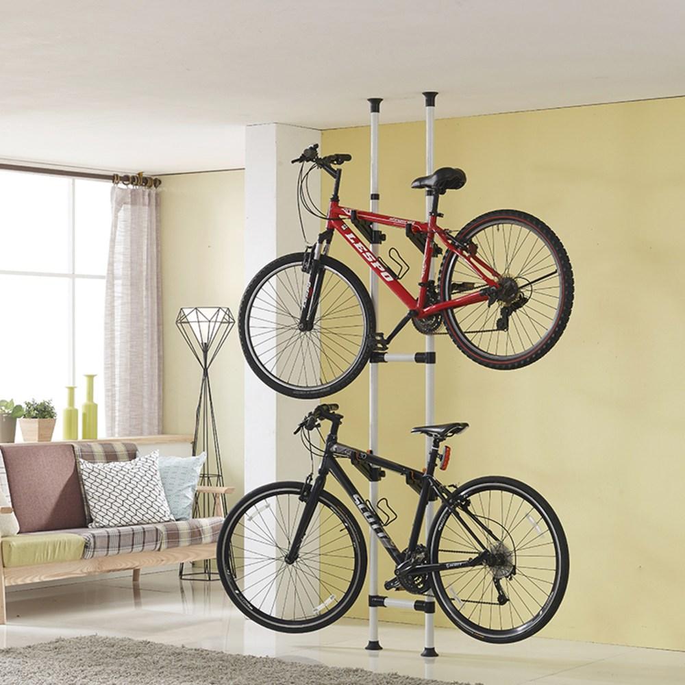 데코즈인 자전거 거치대 2단, 화이트