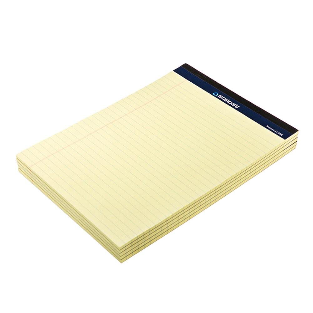 포핀스트레이딩 리갈패드 A4 50매, 옐로우, 5개