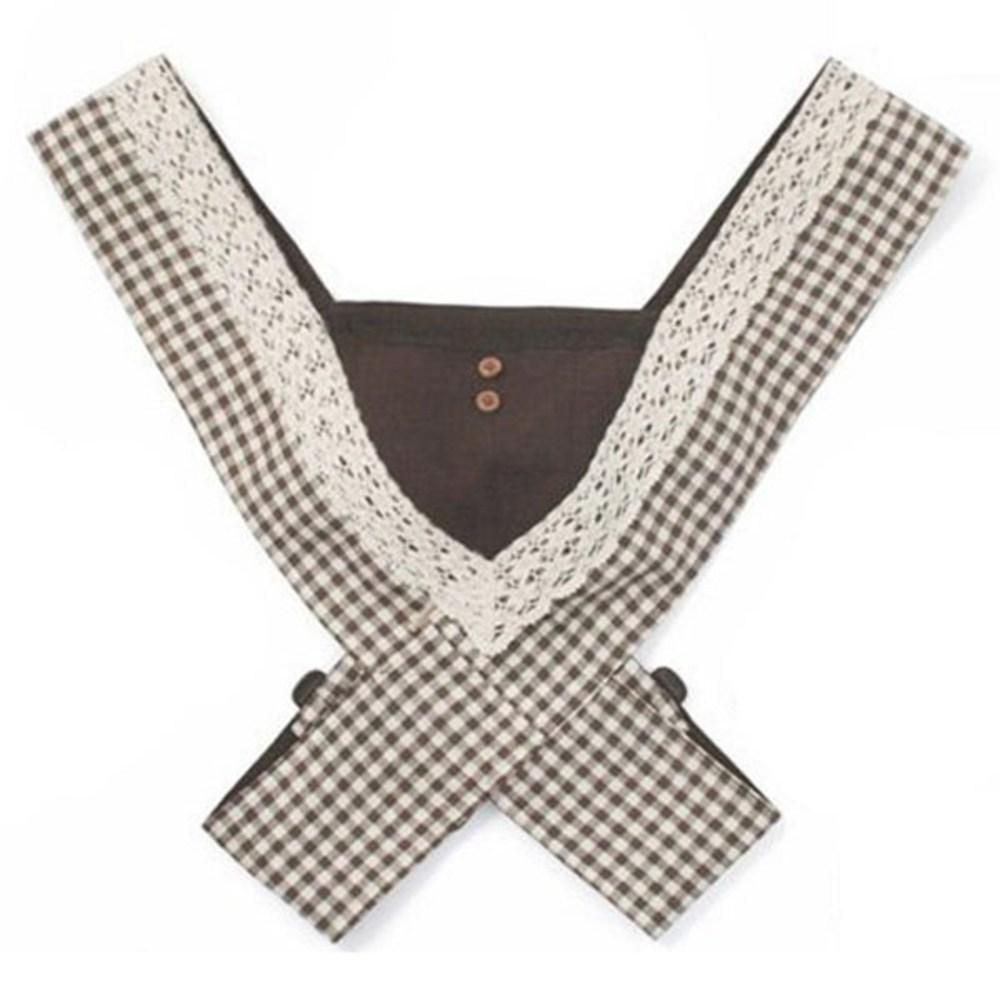조이멀티 휴대용 베이비 아기띠 프리미엄H 체크무늬, 브라운