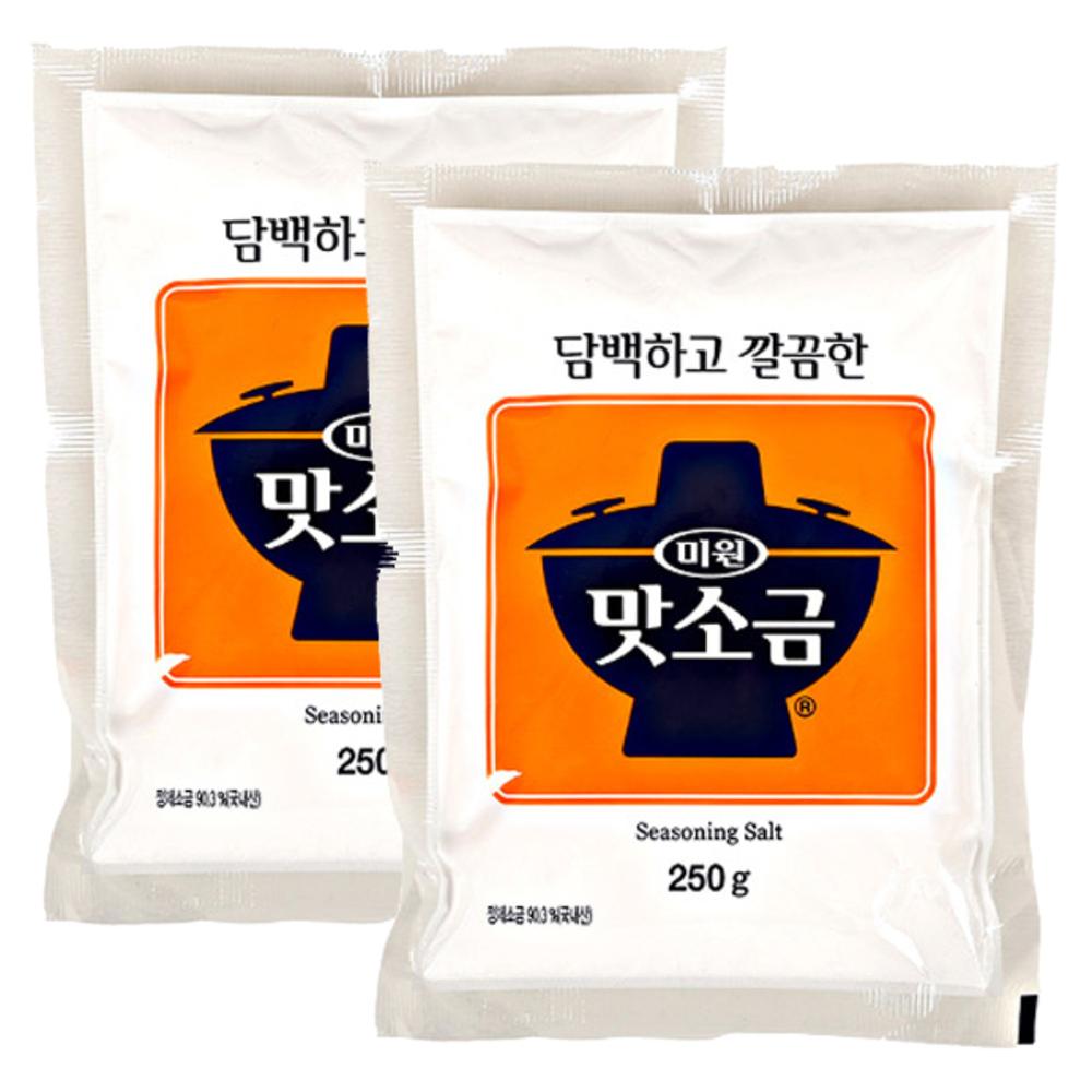 청정원 미원 맛소금, 2개, 250g
