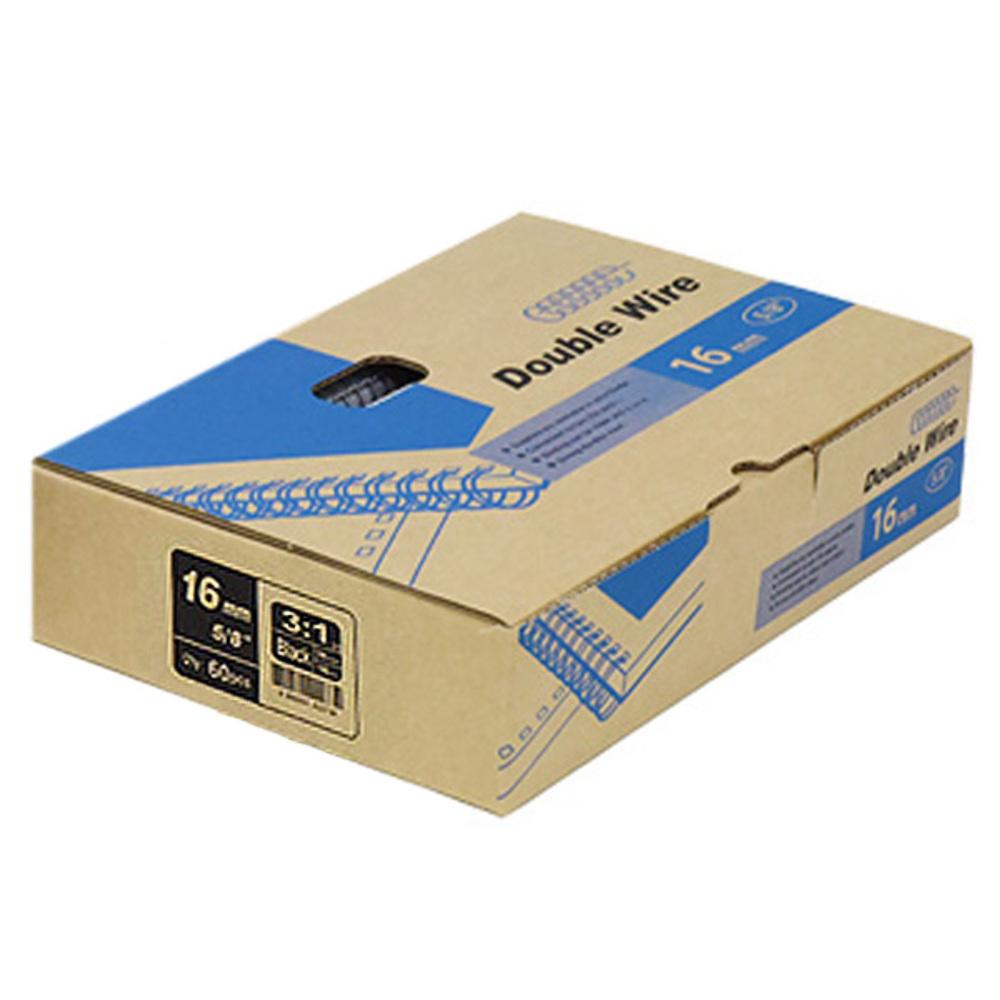 카피어랜드 제본 와이어링 3:1 1BOX 60개입, 검정색, 16mm