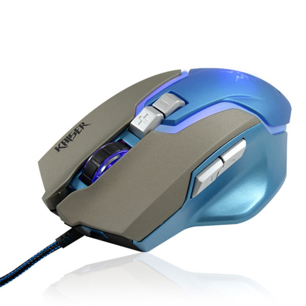 코시 카이저 게이밍 마우스 블루