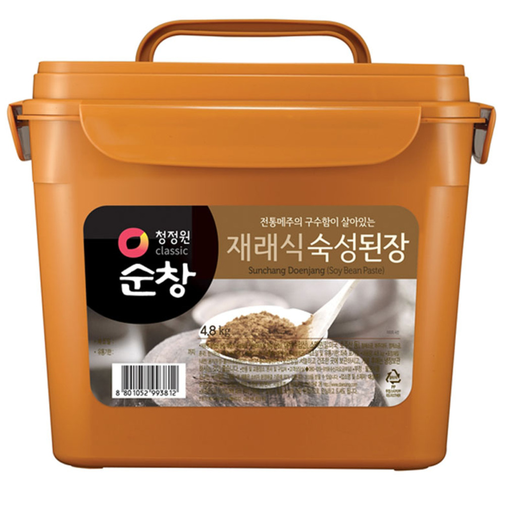 [재래식 된장] 청정원순창 재래식 숙성된장, 4.8kg, 1개 - 랭킹1위 (14850원)