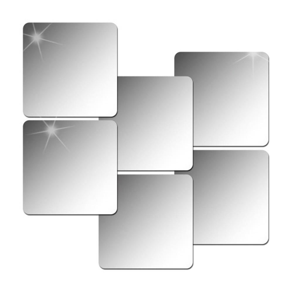 팬시클릭 아크릴 안전 거울 스티커 라운드 타입 6개입, 단일 색상