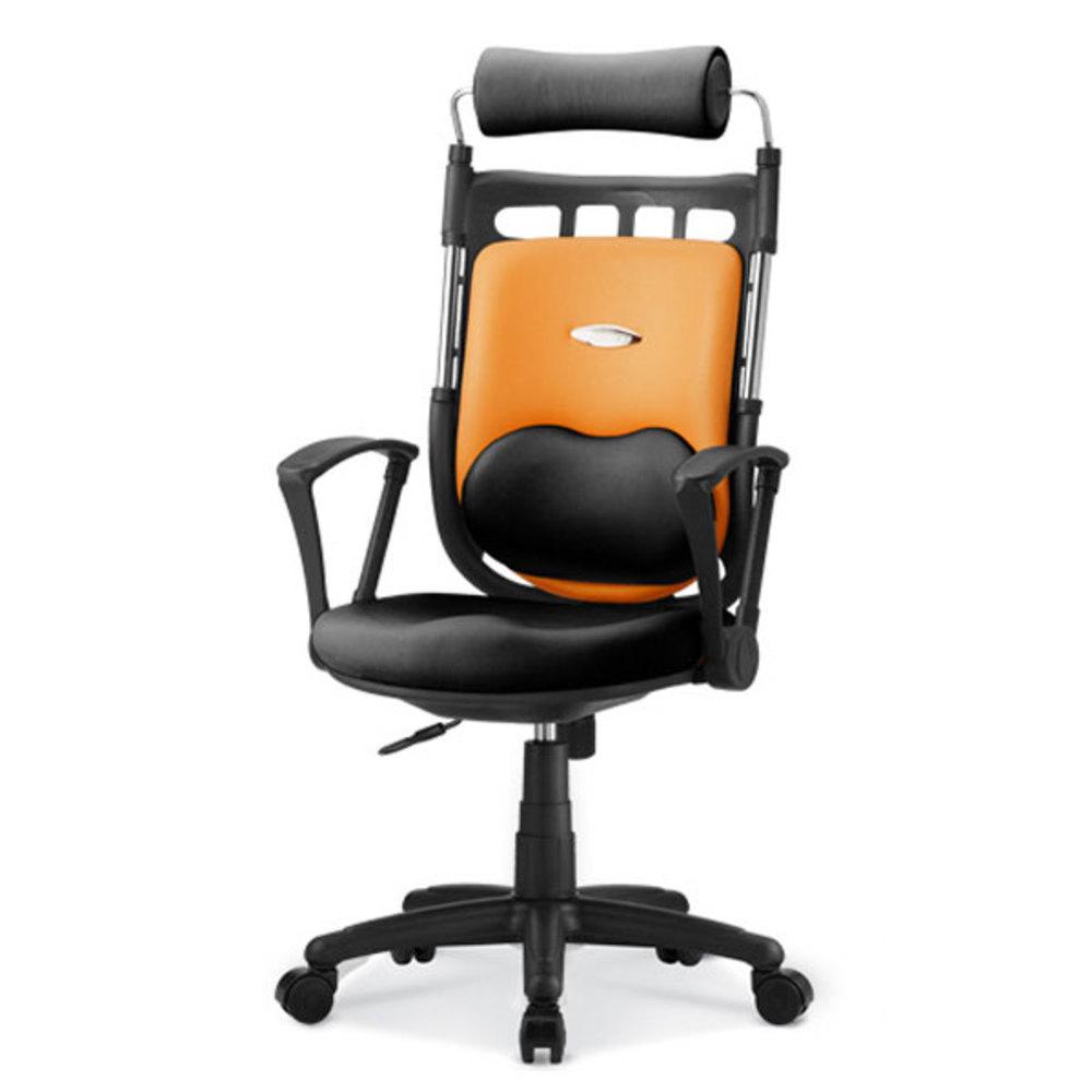 체어포커스 슈퍼 K 2 하트요추 인조가죽 사무용 의자, 오렌지