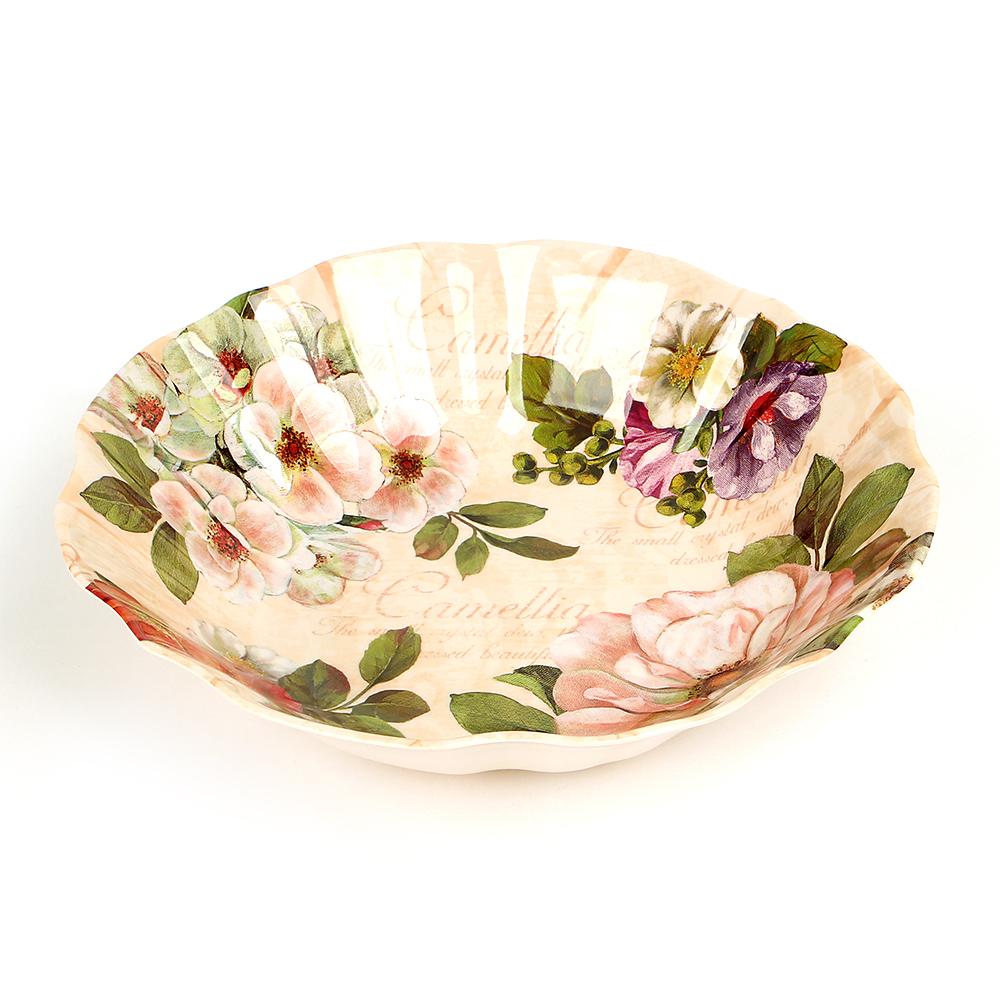 Xier Flower Trays 멜라민 화채볼, 산채화, 1개