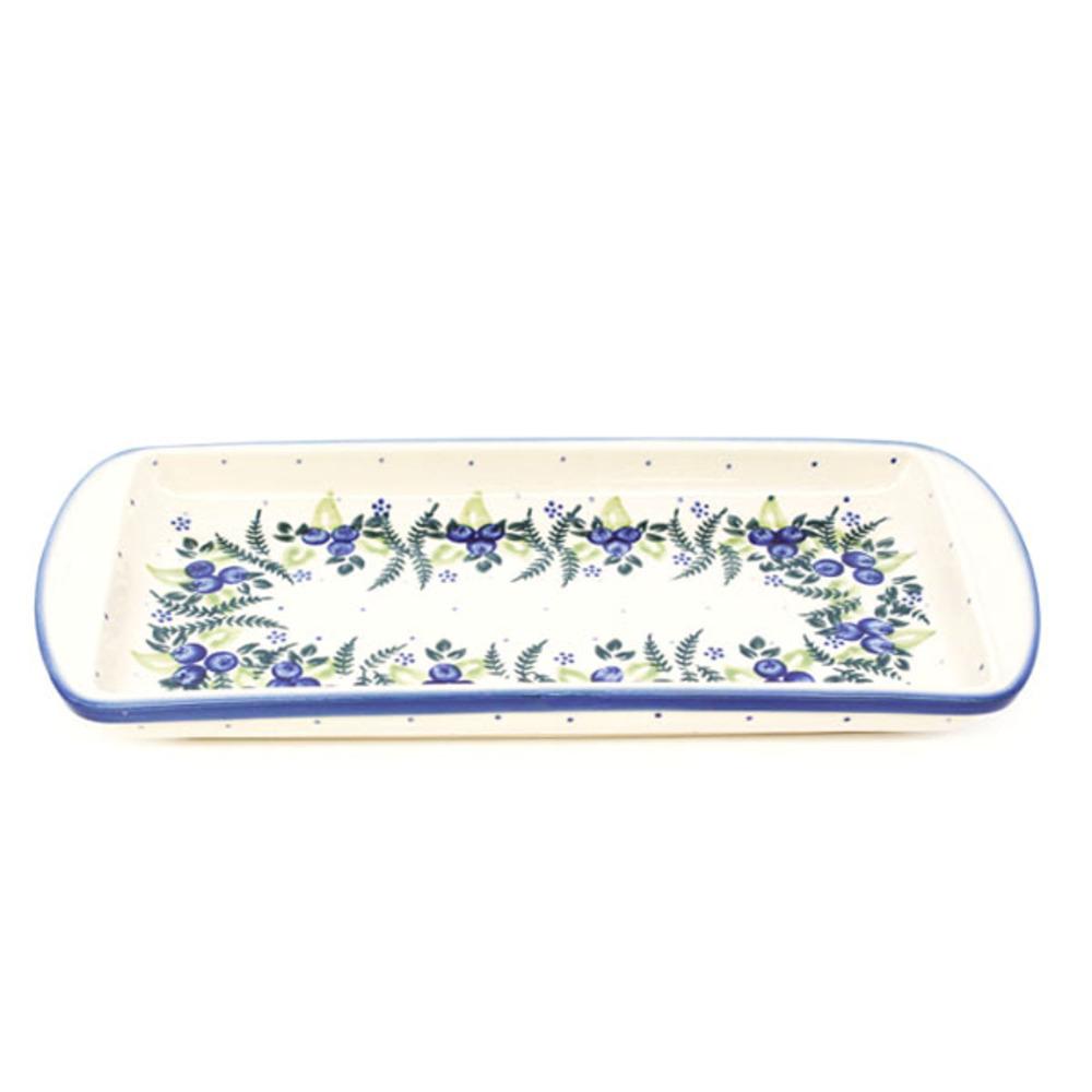 아티스티나비자 폴란드 직사각 접시, 214-157 블루베리