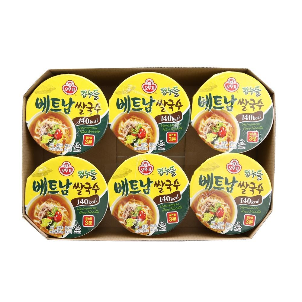 오뚜기 컵누들 베트남 쌀국수, 47g, 6개