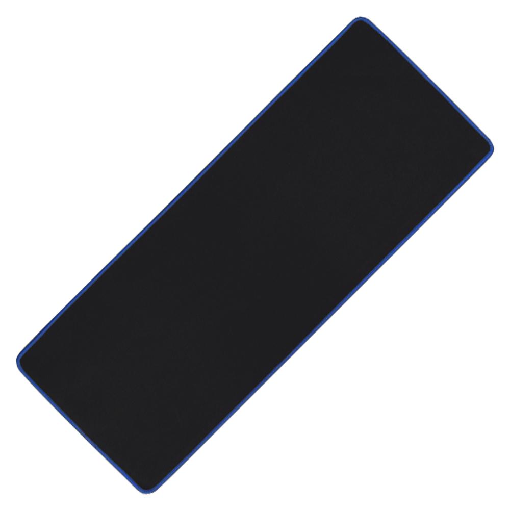 아이크라운 장 마우스패드 ICR-LPD80, 블랙 + 블루, 1개