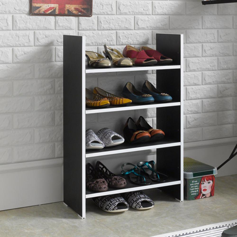 제우스 DIY 500 수납 신발장, 올블랙
