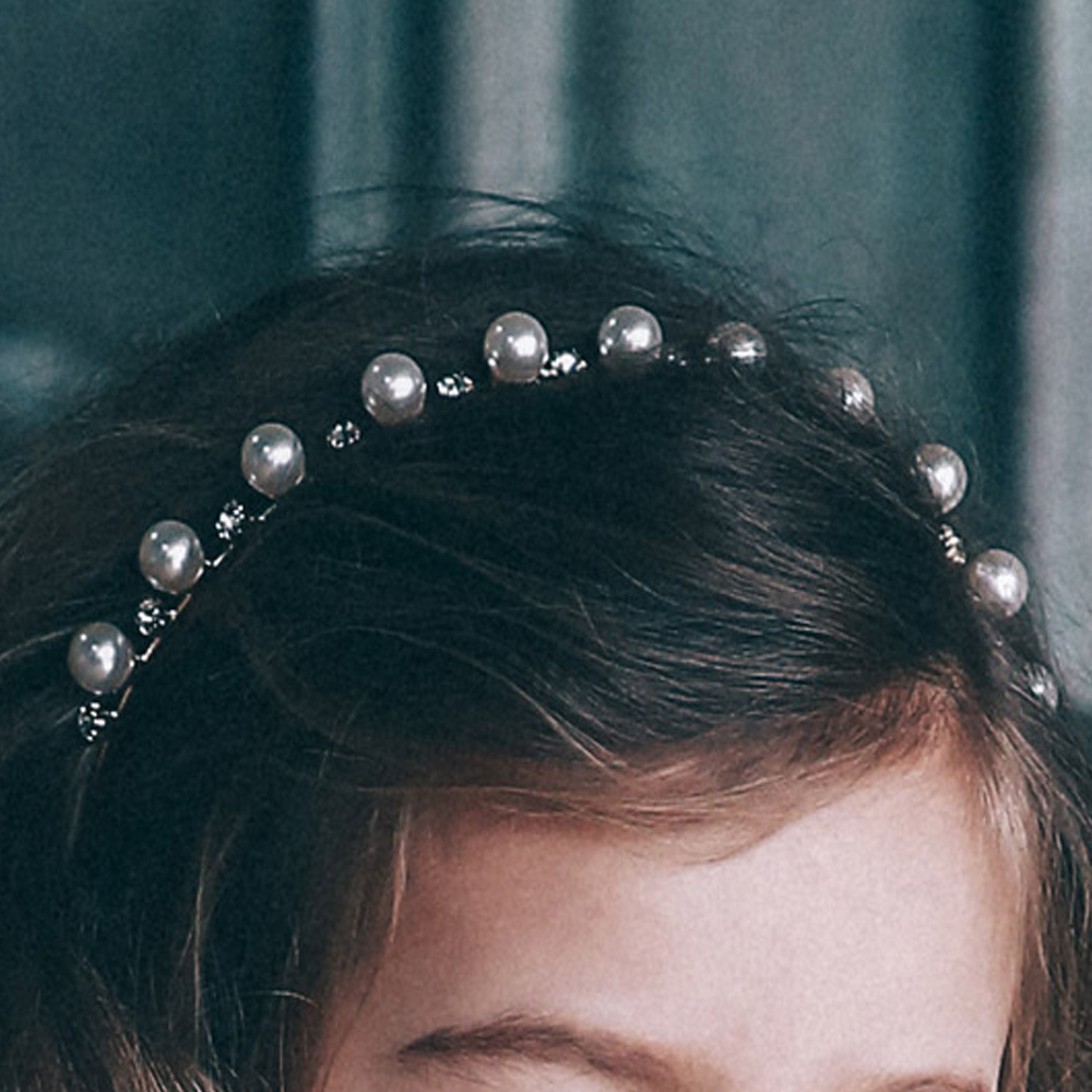드레스하우스 골드 진주 머리띠