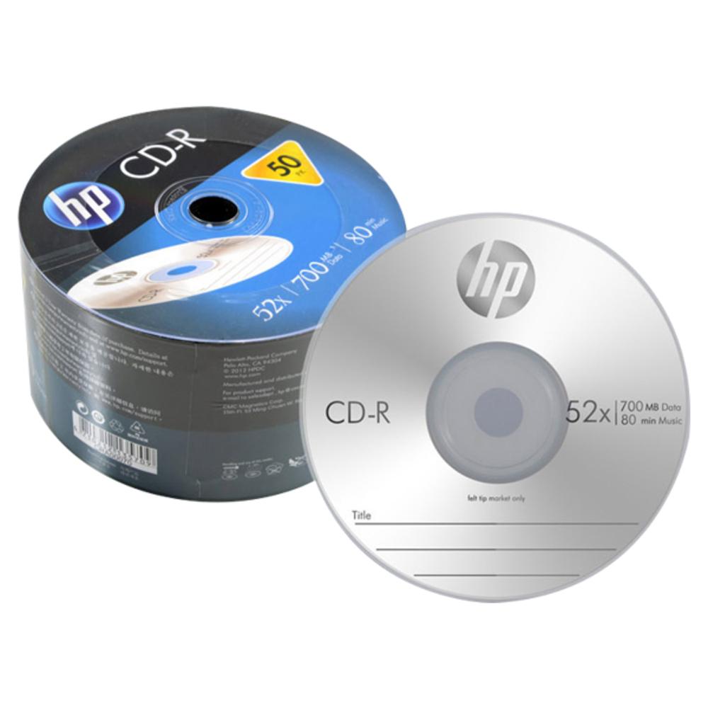 HP CD-R 52x 700MB 50p 벌크, 단일상품