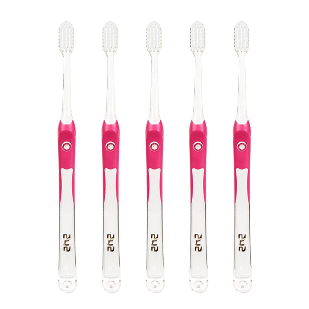 242 치과용 칫솔 성인용 빨강, 5개입, 1개