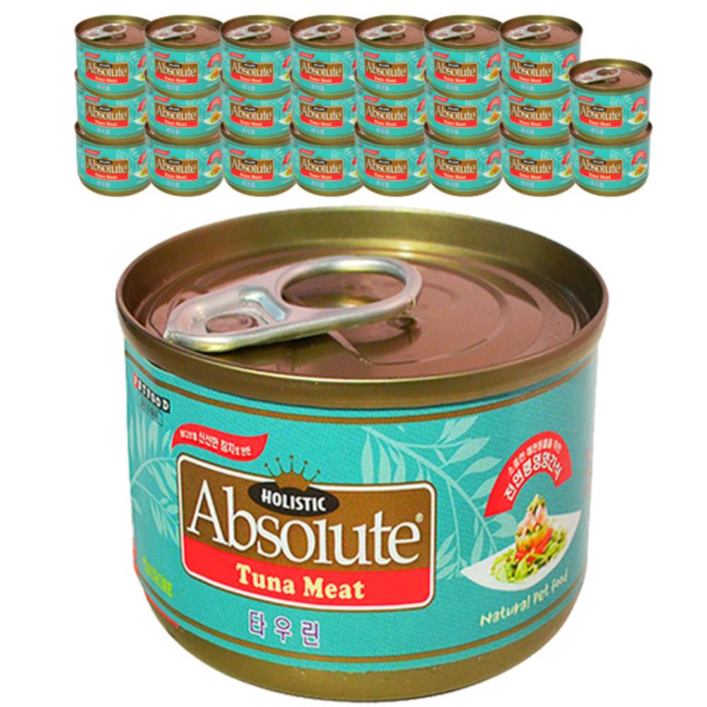 앱솔루트 고양이 간식캔 80g, 참치 + 타우린 혼합맛, 24개입