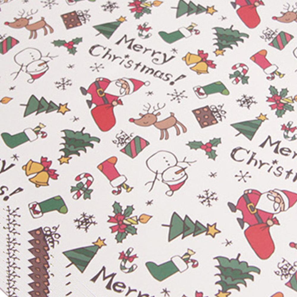아이엔엠엔피 디자인 산타 아이콘 포장지, 화이트, 10장