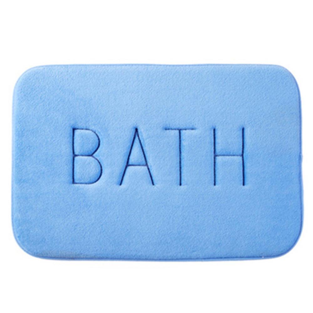 블럭마트 BATH 두꺼운 메모리폼 발매트, 블루