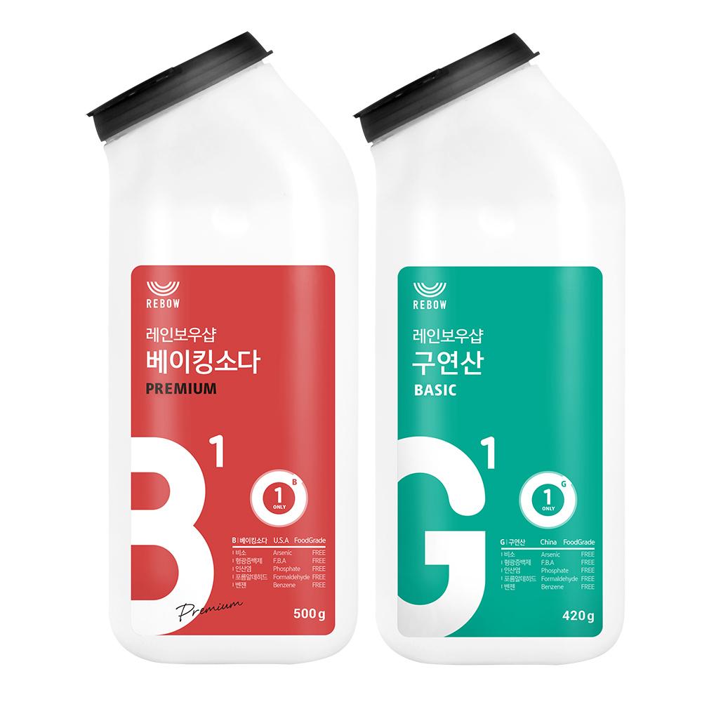 레인보우샵 베이킹소다 프리미엄 톡톡이 + 구연산 톡톡이, 1세트