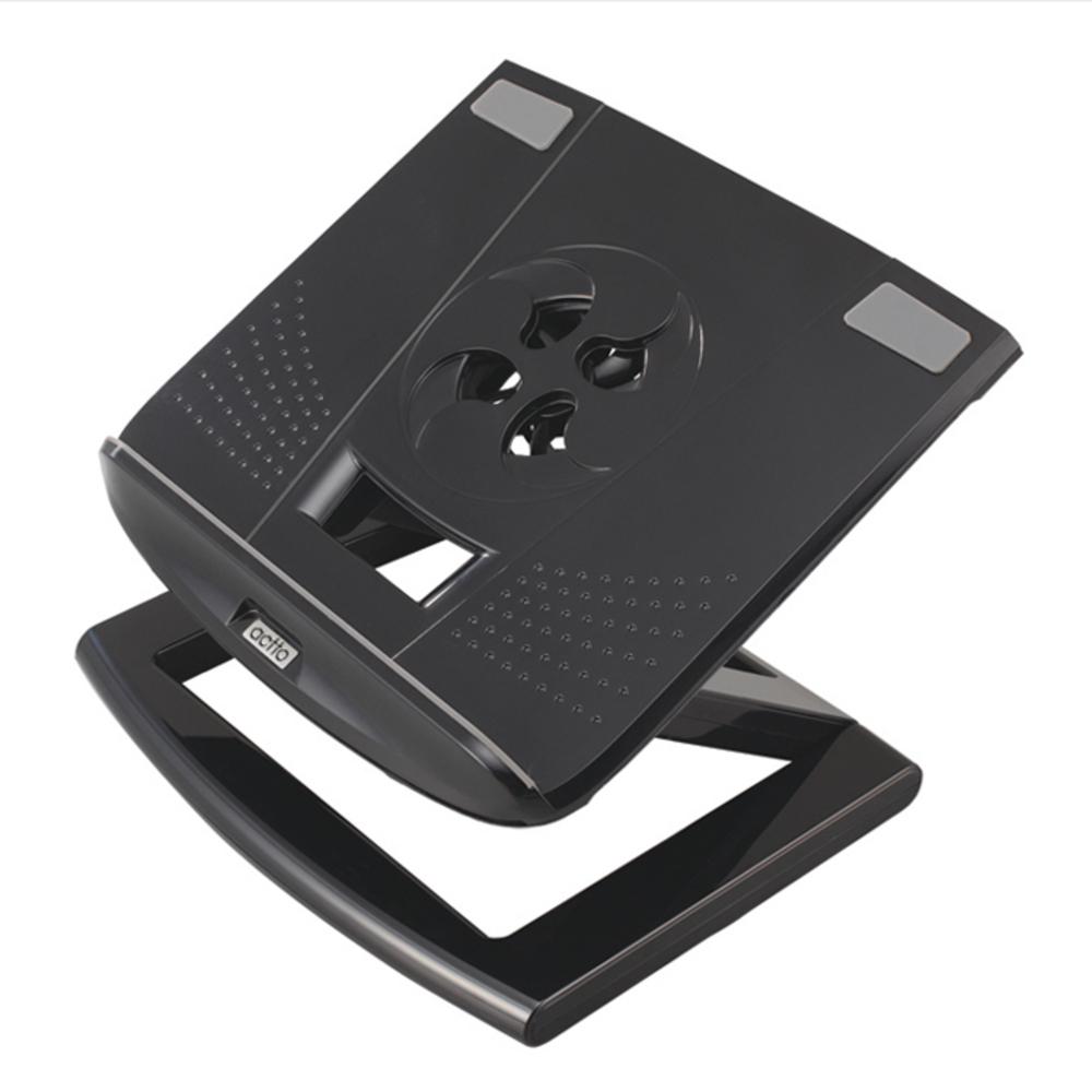 엑토 토네이도 노트북 높이조절 쿨러 거치대, 블랙, 1개