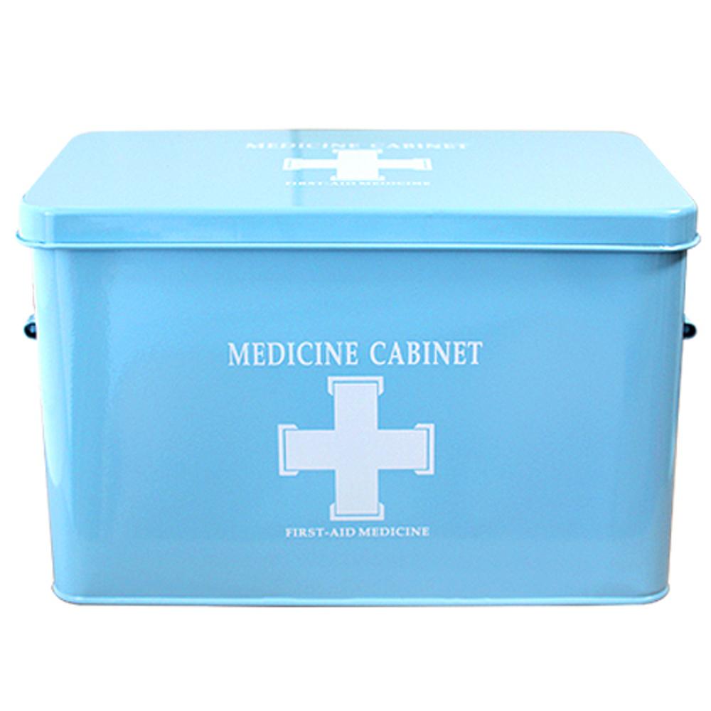 MF매직하우스 철제구급상자 대형 블루, 1개 (POP 13121183)