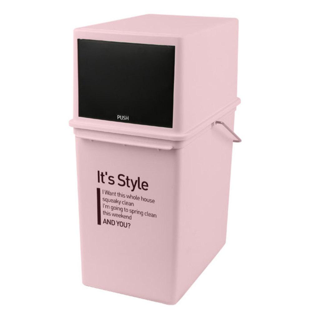 샤바스 잇츠 스타일 푸쉬 휴지통, 핑크, 1개