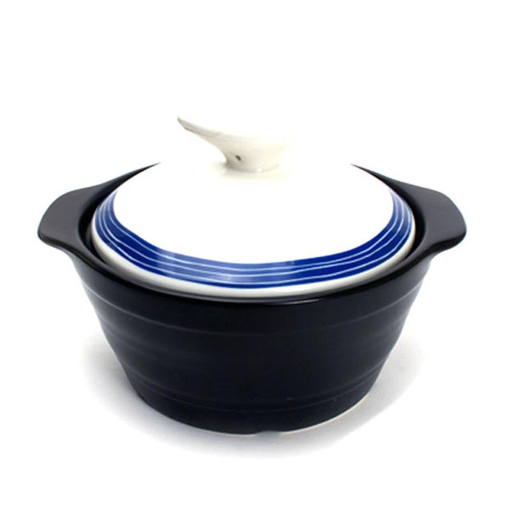 엘케이메이드 그랑블루 무균열 뚝배기 블랙 소 1조, 소 (14.5 cm), 1개