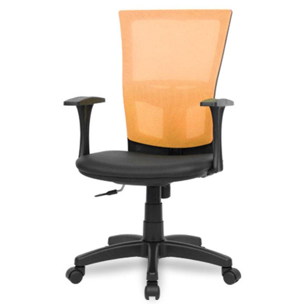 체어포커스 싱크체어 T1 기본형 메쉬 사무용의자, 오렌지