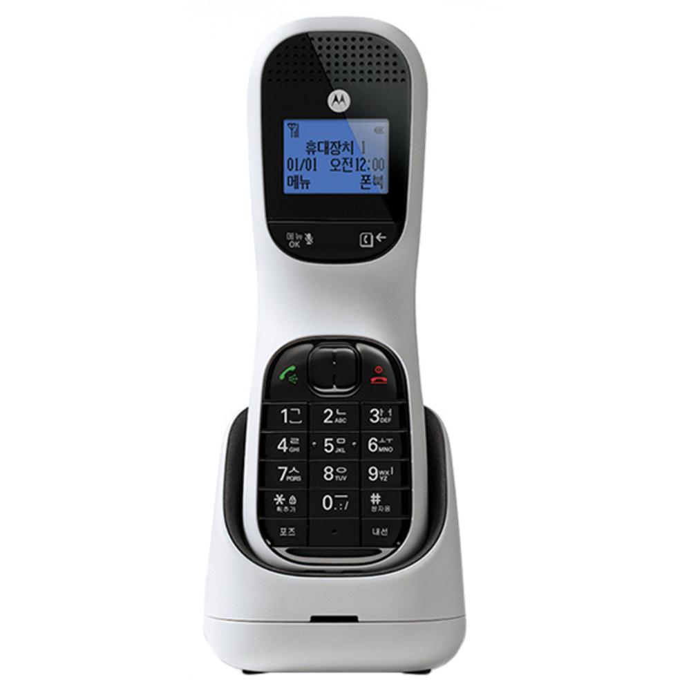 모토로라 2.4GHz 디지털 무선 전화기 화이트 TD1001A